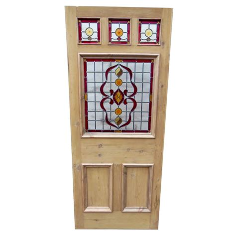 Painting Glass Panel Doors 6 Panel Nouveau Stained Glass Door Period Home Style