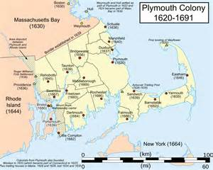 colony of map plymouth colony