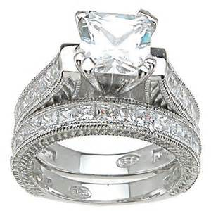 cheap sterling silver wedding ring sets buy plutus partners 925 sterling silver princess cut