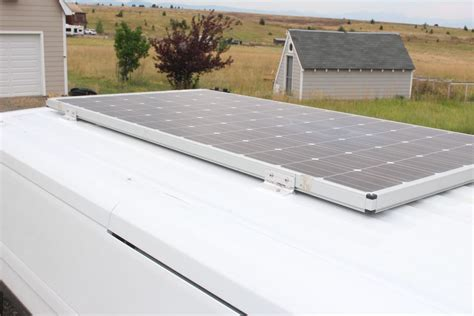 diy rooftop solar our promaster conversion solar panel mounting build a green rv