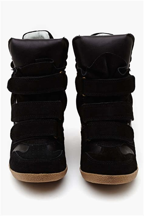 black sneaker wedge steve madden hilight wedge sneaker black ijshoes
