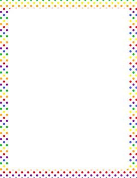 printable polka dot border paper rainbow polka dot border briefpapier borders frames