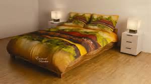 Christmas Duvet Sets Hamburger Bed Sheets Food