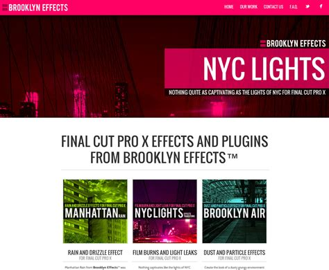 final cut pro effects brooklyn effects announces 3 new plugins for final cut