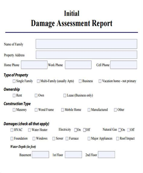 damage report template damage report template 14 free word pdf format