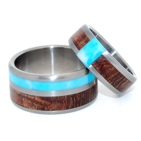 Wooden Wedding Rings Our One 5 by Minter Richter Titanium Rings Wooden Wedding Rings