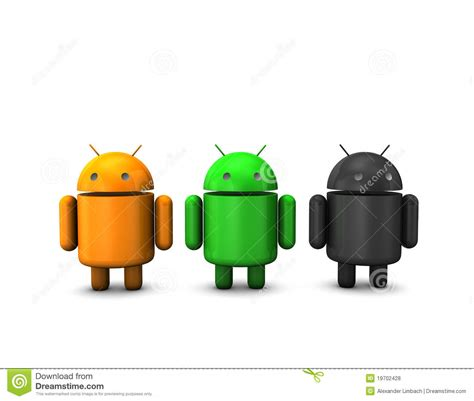 Penyangga Smartphone Si Robot Android robot android fotografia stock editoriale immagine 19702428