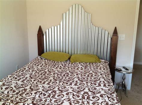 corrugated tin headboard corrugated metal walnut headboard corrugated metal