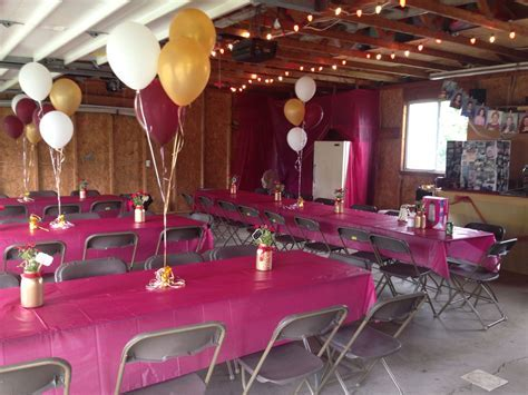 I did my best to transform our garage for jen's grad party