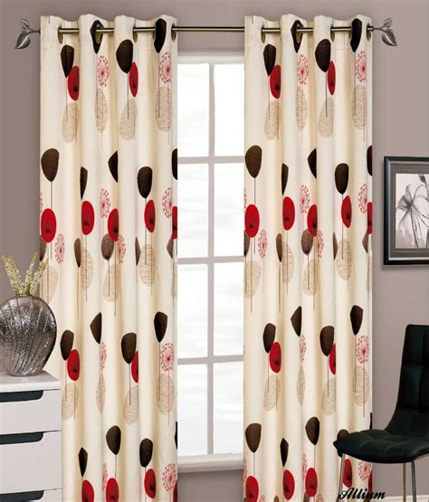 red and cream curtains with eyelets stylish floral ring top eyelet lined curtains faux silk
