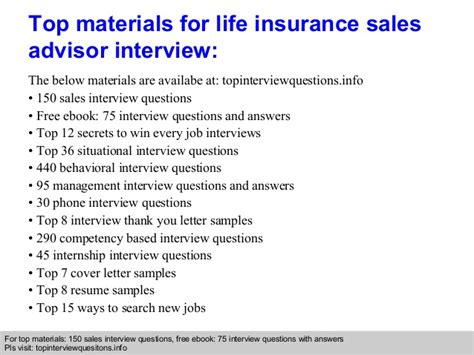 biography interview questions pdf life insurance sales advisor interview questions and answers