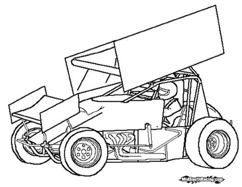 Sprint Car Coloring Pages kidz korner