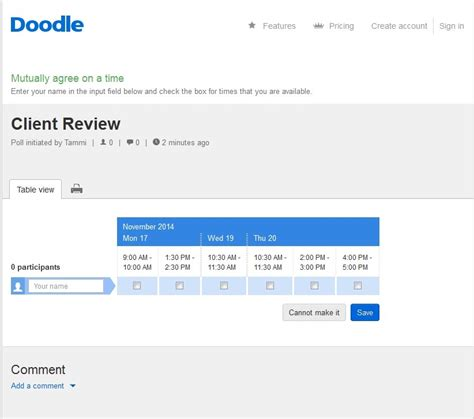 doodle how to edit poll doodle hassle free scheduling e learning