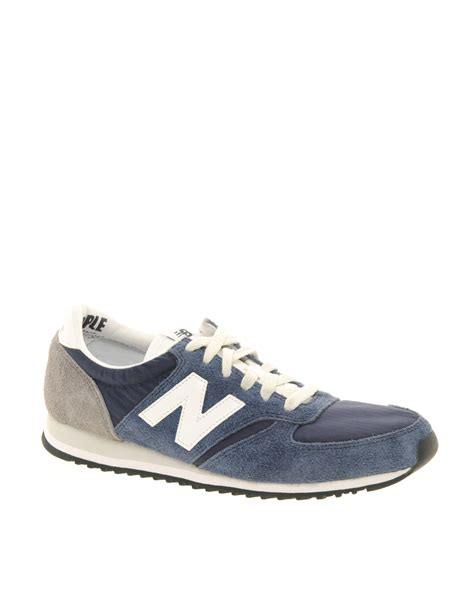 vintage new balance sneakers lyst new balance 420 navy vintage trainers in blue