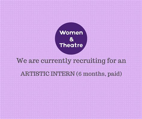 intern opportunity and theatre 187 artistic intern opportunity