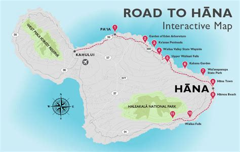 Printable Road To Hana Map | maps update maui tourist attractions map map 604496