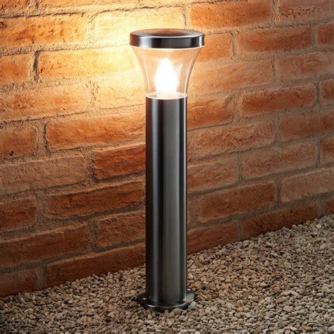 led post light bulb auraglow ip44 stainless steel garden path post light led