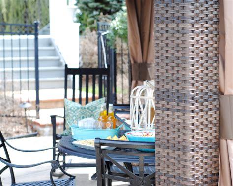 Backyard Creations Woven Post Gazebo Outdoor Woven Wicker Gazebo The Chronicles Of Home