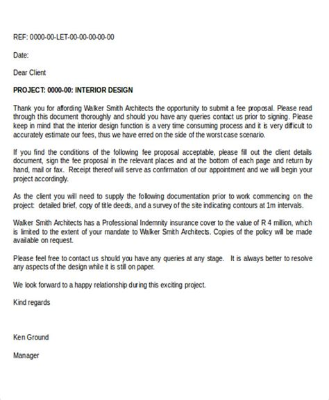 Interior Design Letter Template 79 Interior Design Interior Design Template 2 Fee