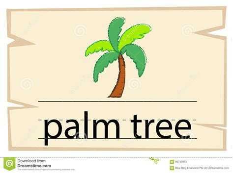 palm card templates in word wordcard template for word palm tree stock vector