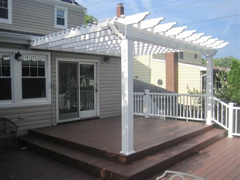 attached vinyl pergola kits pergola design ideas