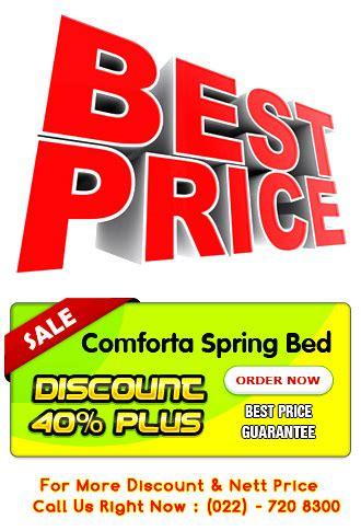 Bed Comforta Bandung harga bed comforta murah gold pedic solid spine