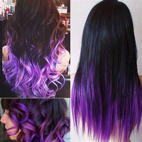 Haur Styles With Black Hair And Another Color In The Bottom | different hair colors for stylish ladies long hairstyles