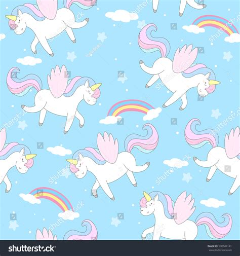 cute baby pattern stock vector image of horse collection cute hand drawn unicorn vector pattern stock vector
