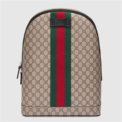 Backpack Gucci by Gg Supreme Backpack With Web Gucci S Backpacks
