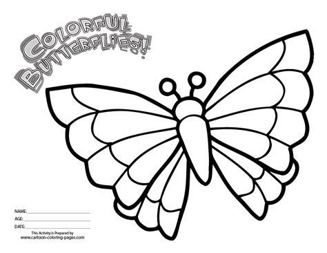 butterflies cartoon coloring home