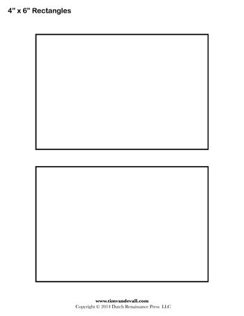 rectangle swing card template rectangle templates 4 inch tim s printables