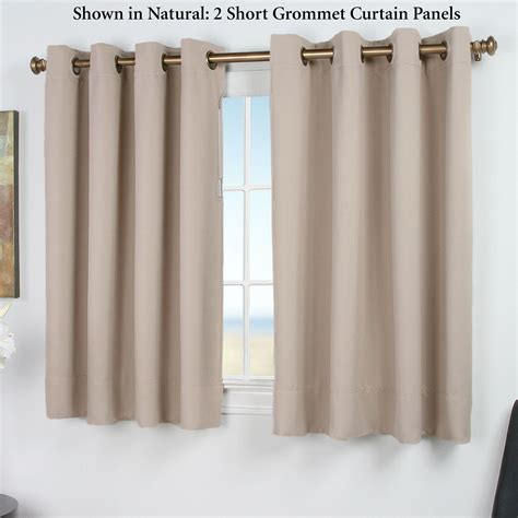 short thermal curtains ultimate blackout short grommet curtain panels