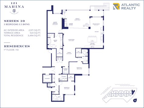 floor plan key 121 marina at ocean reef new miami florida beach homes