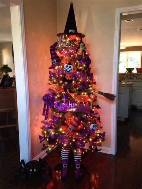 halloween tree purple lights halloween christmas tree ideas 183 all things christmas