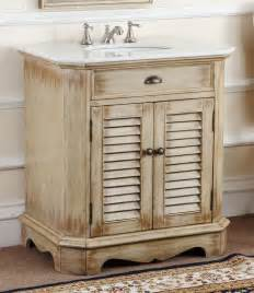 Cottage Bathroom Vanities Adelina 32 Inch Cottage Bathroom Vanity White Marble Top