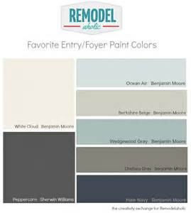 The Best Paint Colors way and foyer paint colors remodelaholic paintpalette color paint