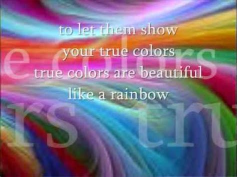 testo true colors true colours by cyndi lauper with lyrics