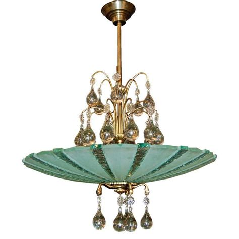 Glass Pendant Chandelier orrefors chandelier and etched glass pendant chandelier for sale at 1stdibs