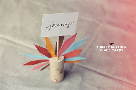 place cards diy diy turkey feather place cards almost makes perfect