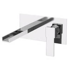 wall mounted bathroom sink faucets remer by nameek s qubika cascade wall mounted horizontal