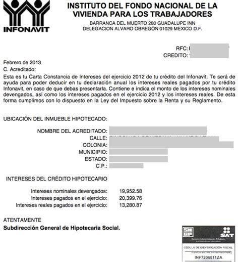 constancia de impuestos infonavit 2015 constancia de impuestos de infonavit 2015