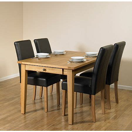 Extending Dining Table beaumaris light oak large extending dining table and 4 chairs
