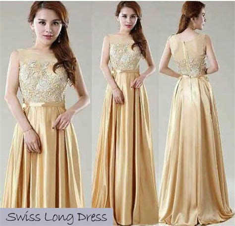 Longdress Syari 2 Warna jual swiss dress gaun panjang tile brokat apricot