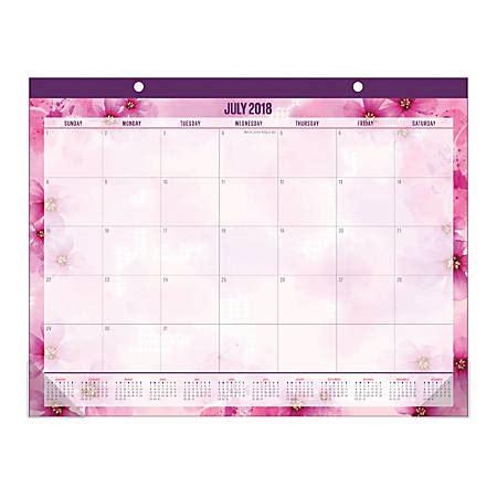 office depot desk calendars 2018 office depot brand large monthly academic desk pad