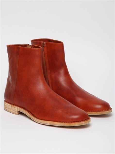 margiela boots mens maison margiela 22 mens san crispino chelsea boot in brown