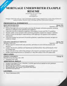 Mortgage Underwriting Resume by Sle Cover Letter Sle Resume Mortgage