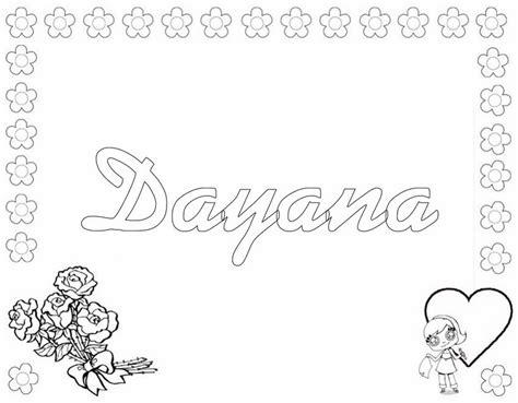 imagenes para colorear y escribir el nombre dibujos para colorear dayana es hellokids com