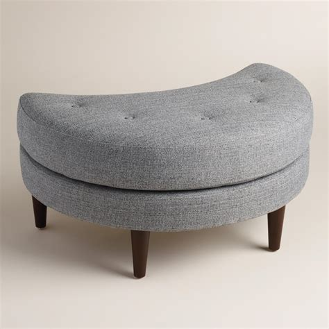 world market storage ottoman gray seren half moon ottoman world market