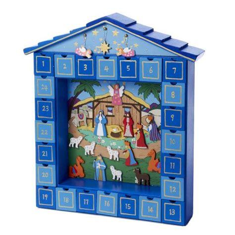 Nativity Advent Calendar Kurt Adler Wooden Nativity Advent Calendar