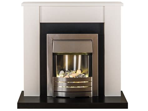 White Fireplace Suites by Adam Solus Fireplace Suite In Black And White With